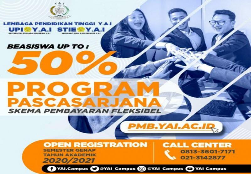 Beasiswa Program Pascasarjana Tahun Akademik 2020/2021