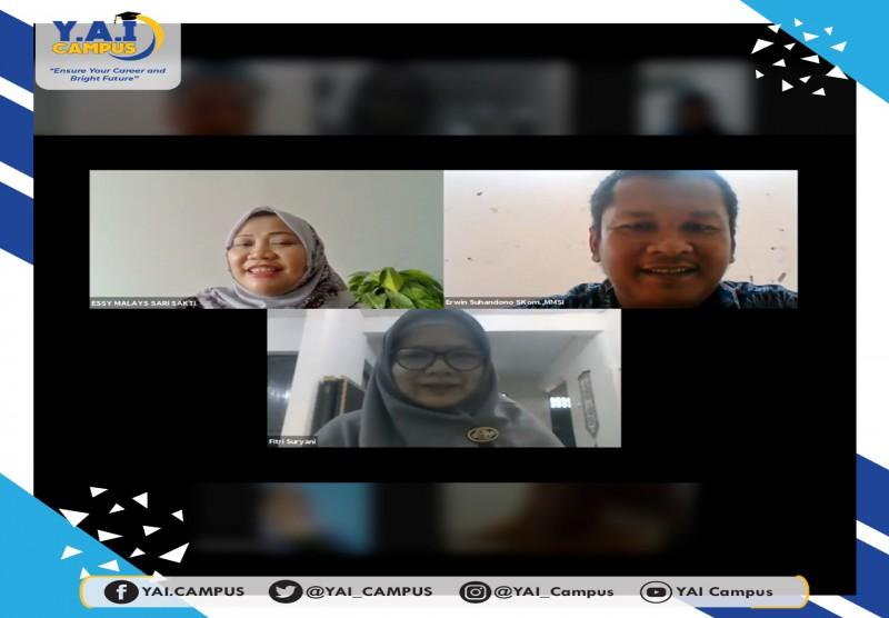 """Fakultas Teknik UPI YAI bekerjasama dengan Kelurahan Sukamaju Baru, Depok melangsungkan Webinar dengan tema"""" """"Tatanan Normal"""