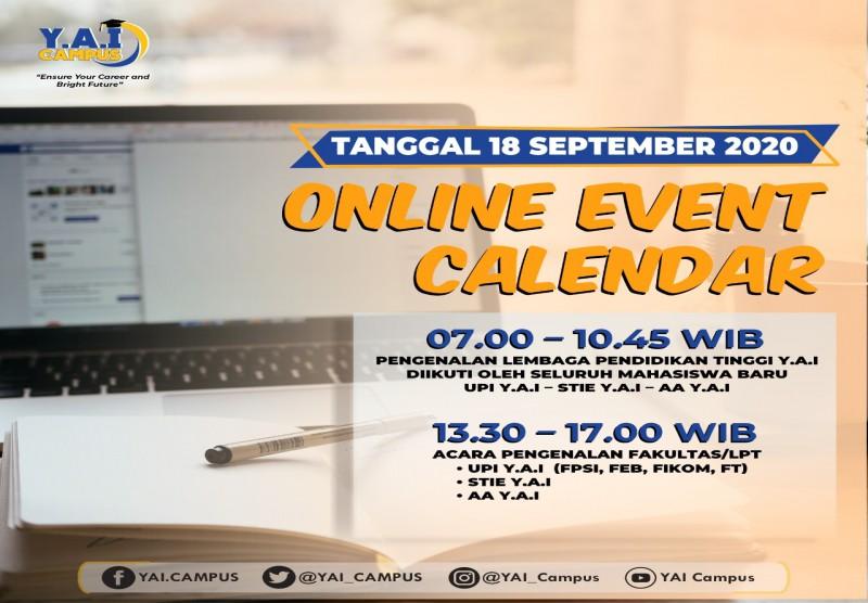 Online Event Calender PKKMB Y.A.I 2020