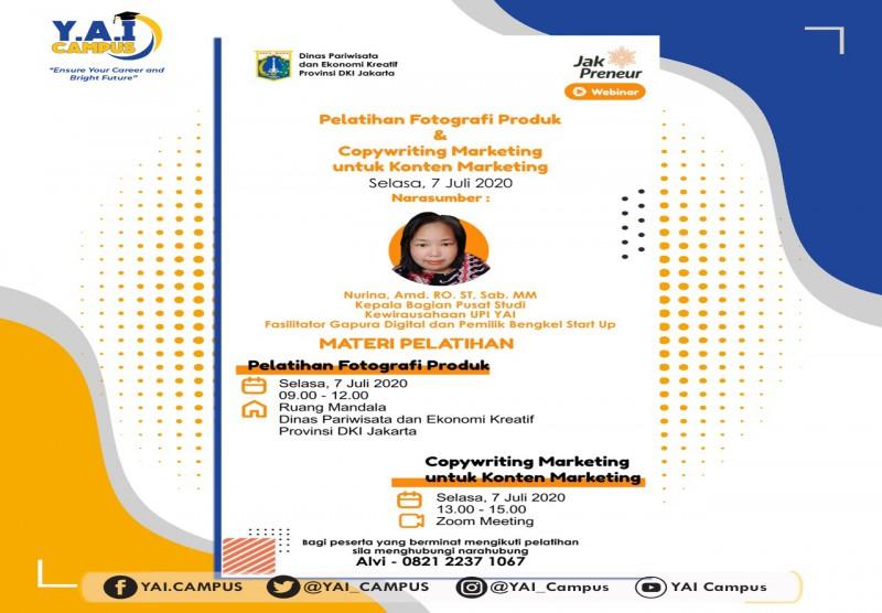 Pelatihan Fotografi Produk dan Copywriting Marketing untuk kontent Marketing