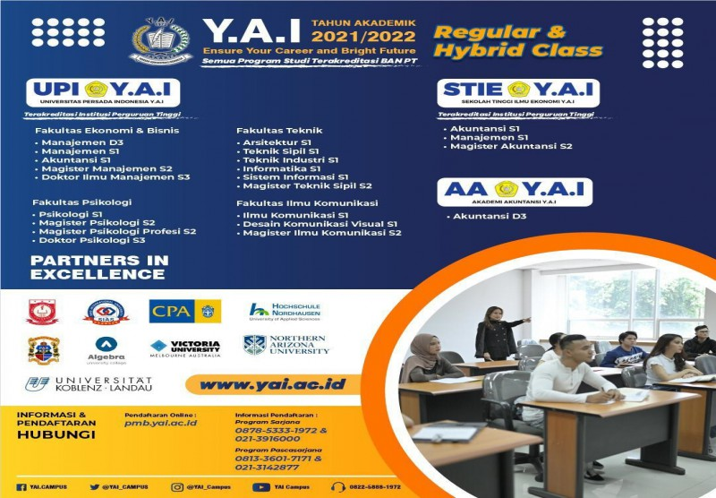 "Pendaftaran Mahasiswa Baru Tahun Akademik 2021/2022 ""PROGRAM REGULAR & HYBRID CLASS"""