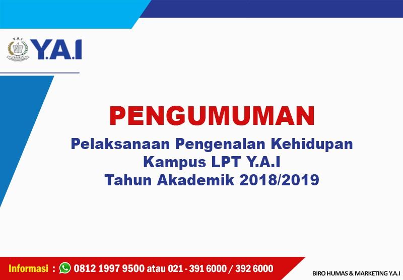 PENGUMUMAN PKKMB TA 2018/2019