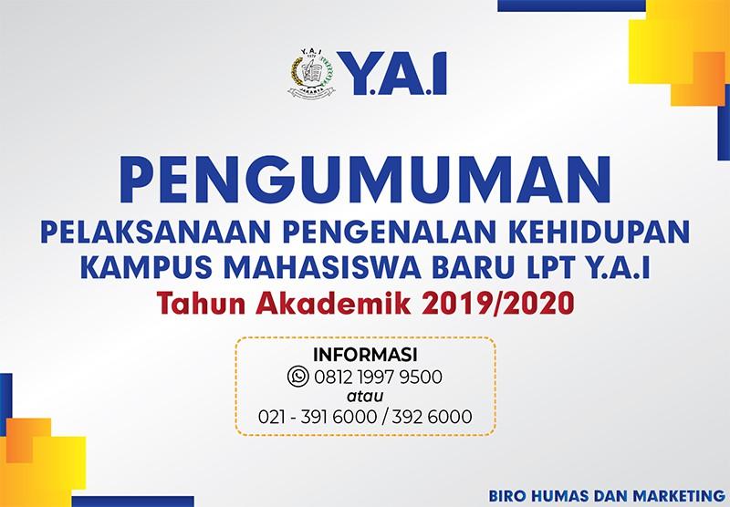 PENGUMUMAN PKKMB T.A 2019/2020