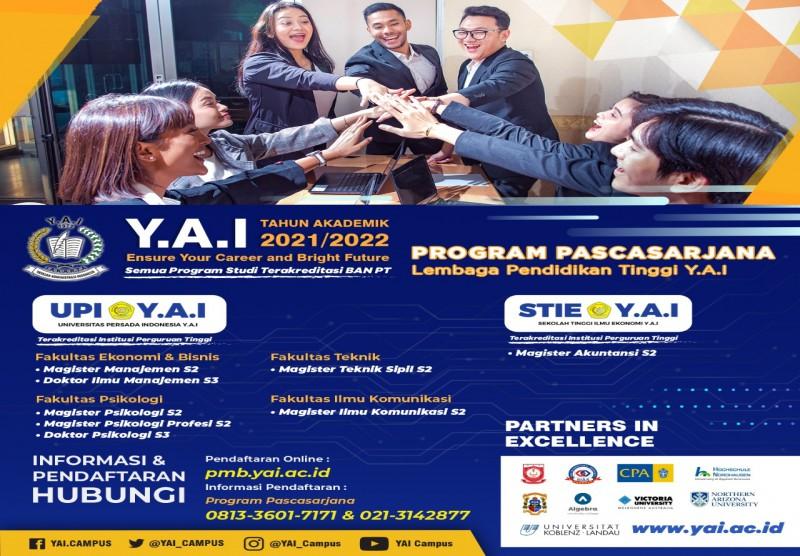 Program Pascasarjana Lembaga Pendidikan Tinggi Y.A.I