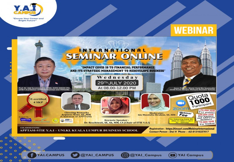 Sekolah Tinggi Ilmu Ekonomi Y.A.I Jakarta, UniKL Malaysia and APPTASI collaborated to organize an international seminar with