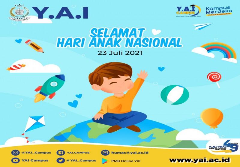 Selamat Hari Anak Nasional 23 Juli 2021