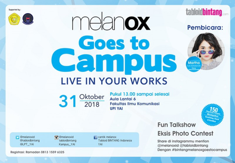 Talkshow Melanox Goes to Campus Live in Your Works