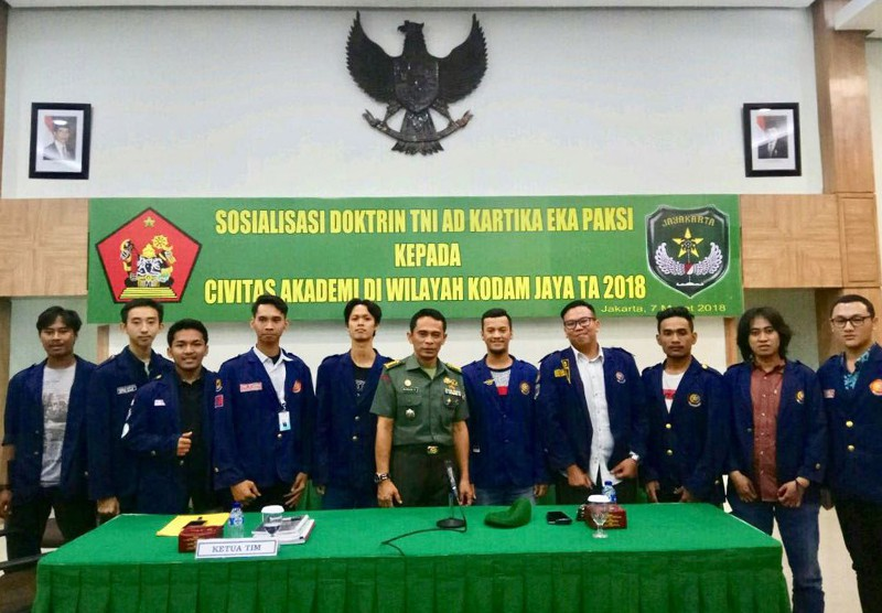 Sosialisasi Doktrin TNI AD Kartika Eka Paksi Kepada Civitas Akademi di Wilayah Kodam Jaya TA 2018