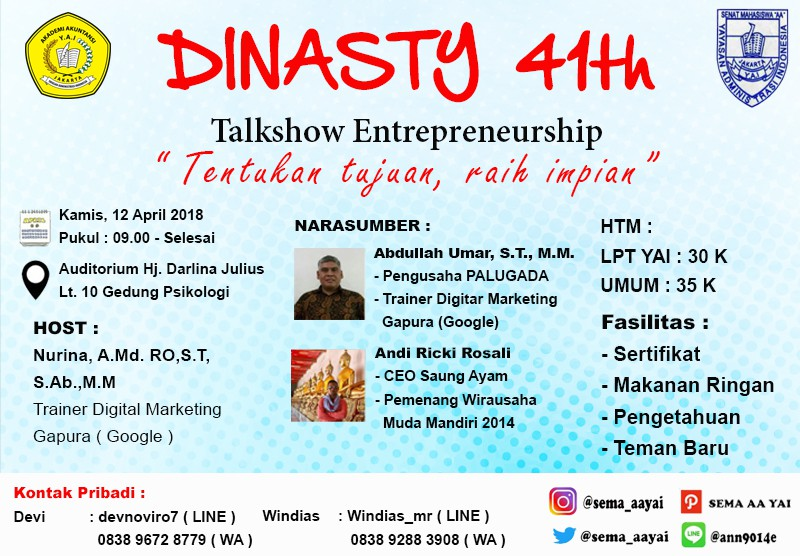 Talkshow Entrepreneurship