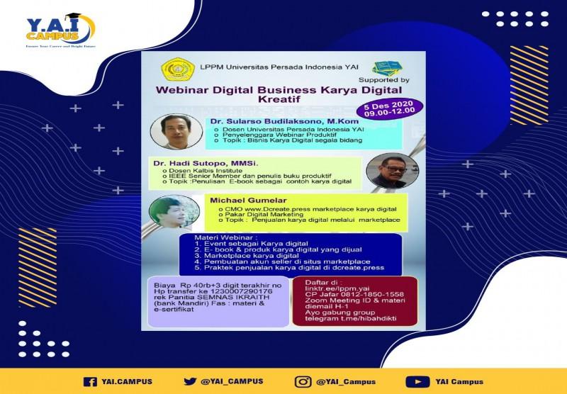 Webinar Digital Business Karya Digital Kreatif