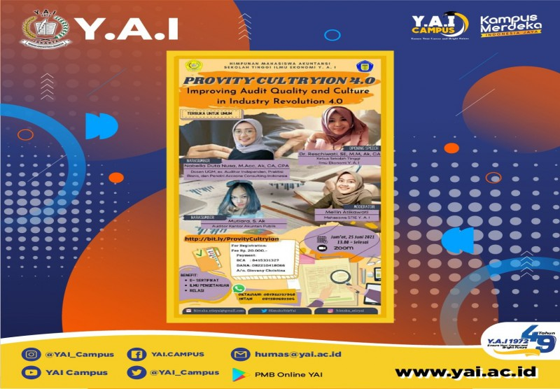 Webinar Nasional : Improving Audit Quality and Culture in Industry Revolution 4.0