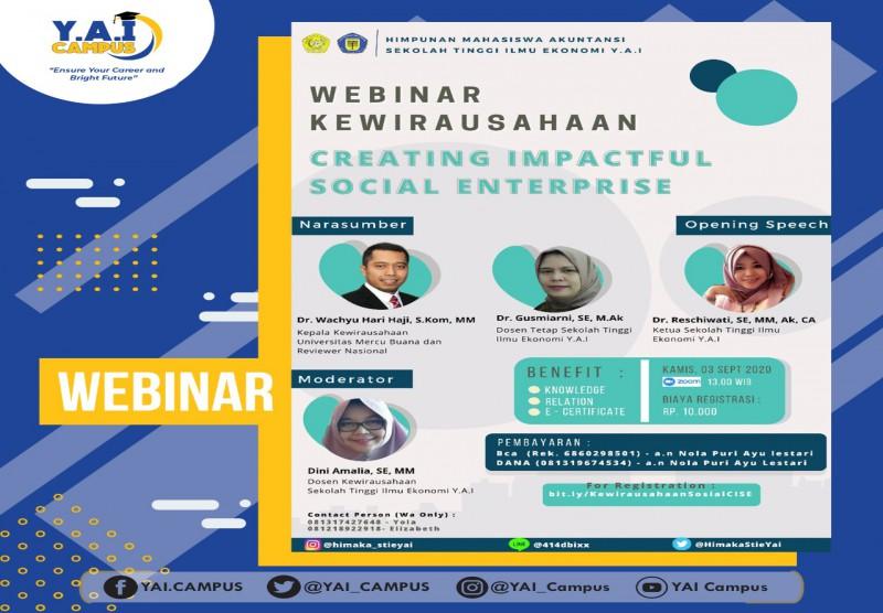 Webinar Series : Creating Impactful Social Enterprise - Being Productive During Pandemic