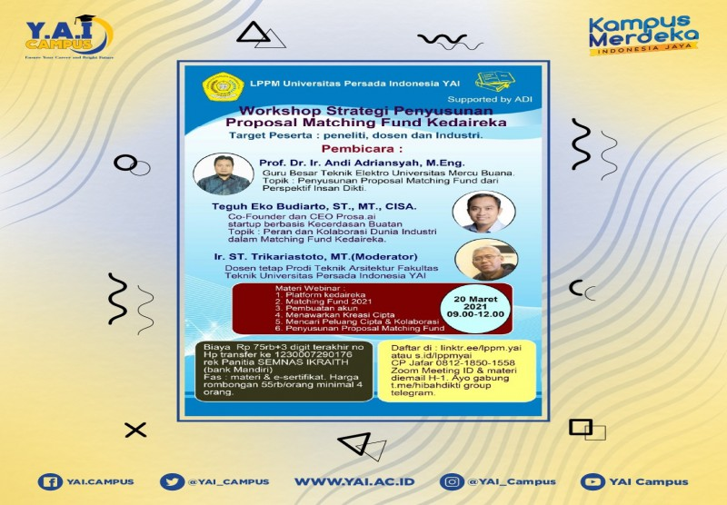 Webinar Strategi Penyusunan Proposal Matching Fund Kedaireka