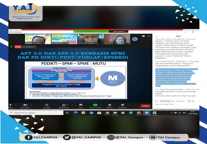 """Webinar """"Strategi Sukses Akreditasi untuk SDM Unggul Indonesia Maju"""","""