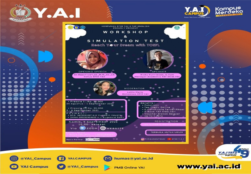 Workshop Nasional Reach Your Dream With TOEFL