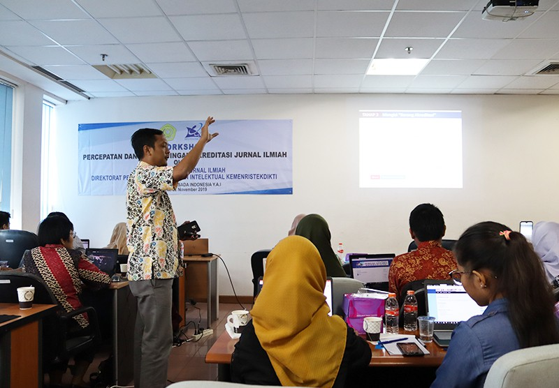 Workshop Percepatan dan Perdampingan Akreditasi Jurnal Ilmiah