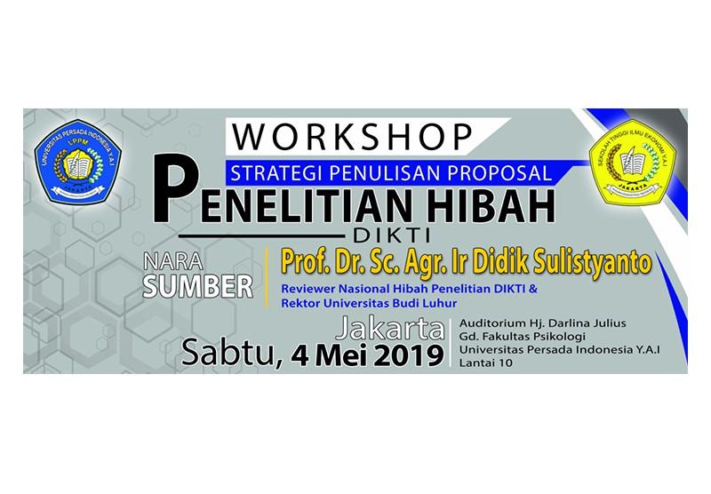 """Workshop """"Strategi Penulisan Proposal Hibah Penelitian"""""""
