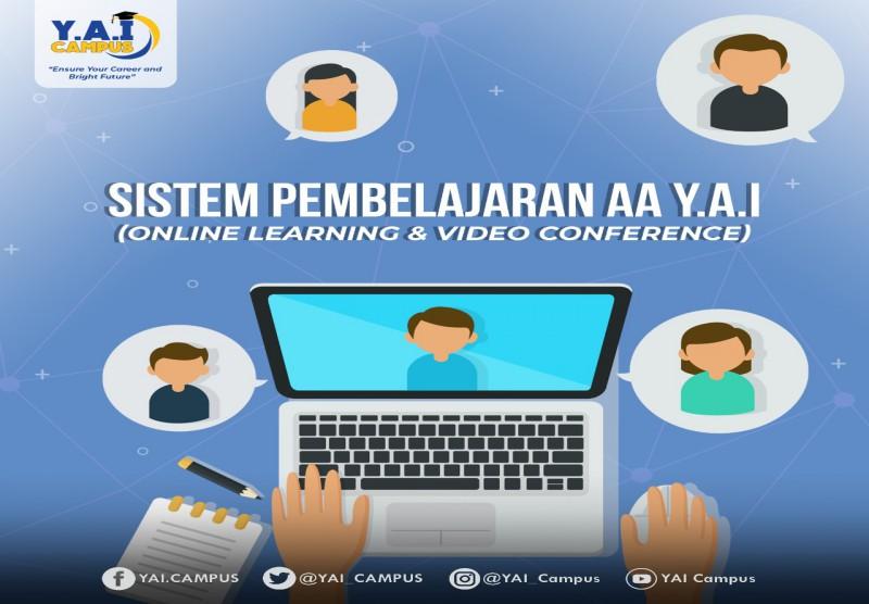 Menerapkan kebijakan  sistem metode Online Learning dan Video Converence