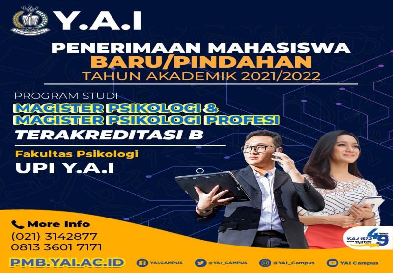 Menerima Mahasiswa Baru/Pindahan Tahun Akademik 2021/2022 Program Studi Magister Psikologi & Magister Psikologi Profesi