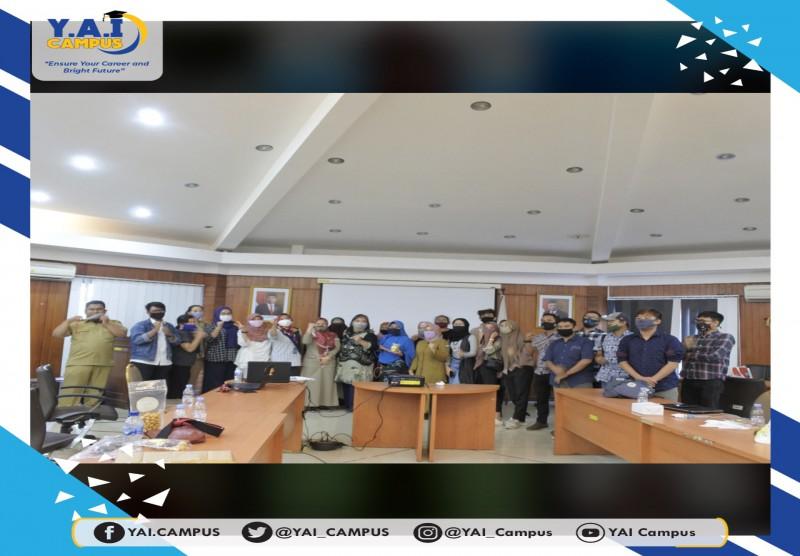 Pelatihan Dinas parekraf DKI dengan narasumber tunggal yaitu ibu Nurina Amd. RO. ST. SAb. MM dari Universitas Persada Indones