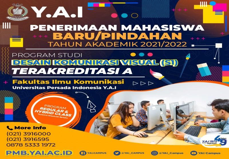 Penerimaan Mahasiswa Baru/Pindahan Tahun Akademin 2021/2022 Program Studi Design Komunikasi Visual (S1)