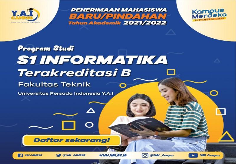 Program Studi S1 Informatika Terakreditasi B