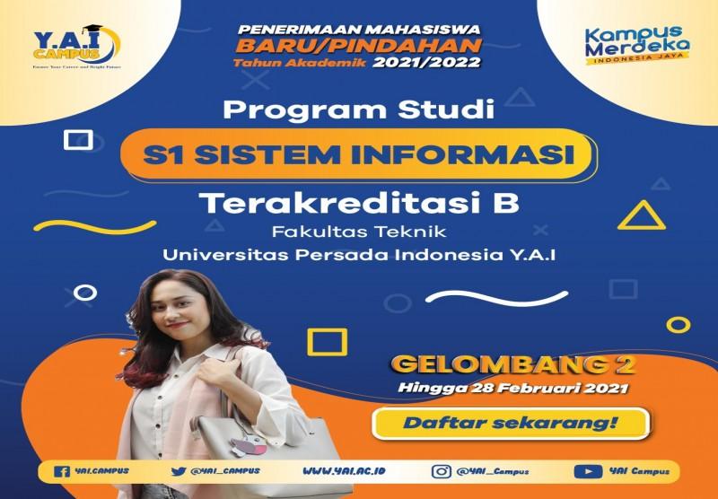 Program Studi S1 Sistem Informasi Terakreditasi B