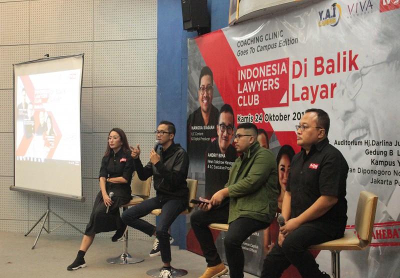 "Coaching Clinic Goes to Campus Edition ""Indonesia Lawyer Club - Di Balik Layar"""
