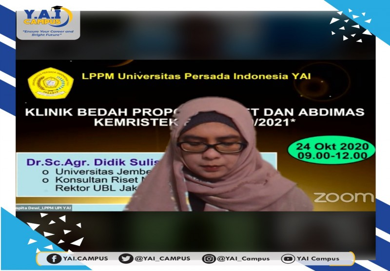 Webinar : KLINIK BEDAH PROPOSAL RISET DAN ABDIMAS KEMRISTEK BRIN 2020/2021