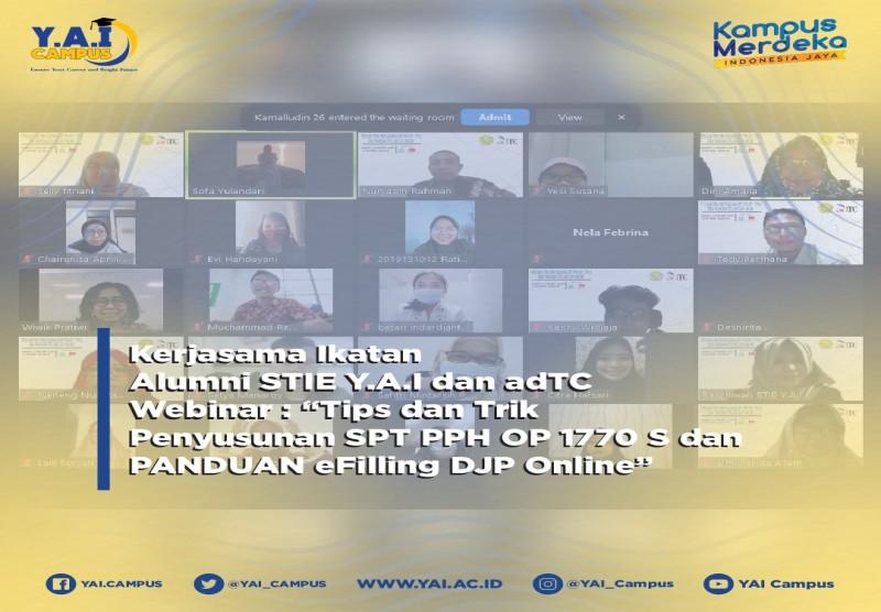 """Webinar Nasional """"Tips dan Trik Penyusunan SPT PPH OP 1770 S dan PANDUAN eFilling DJP Online"""