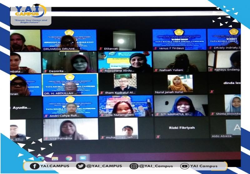 Webinar Pengabdian Masyarakat : Workshop Tata Kelola UMKM di Masa Pandemi