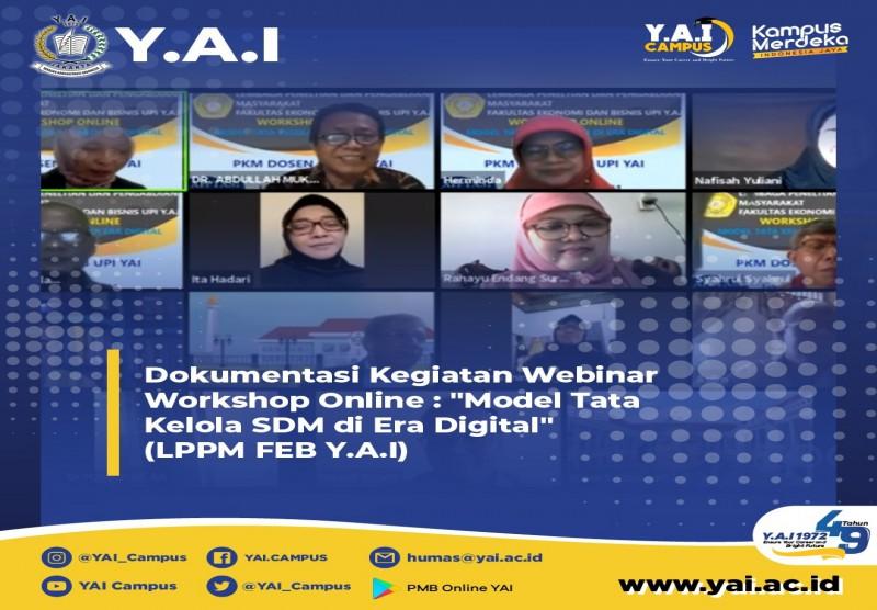 Webinar Workshop Online Model Tata Kelola Sumber Daya Manusia di Era Digital