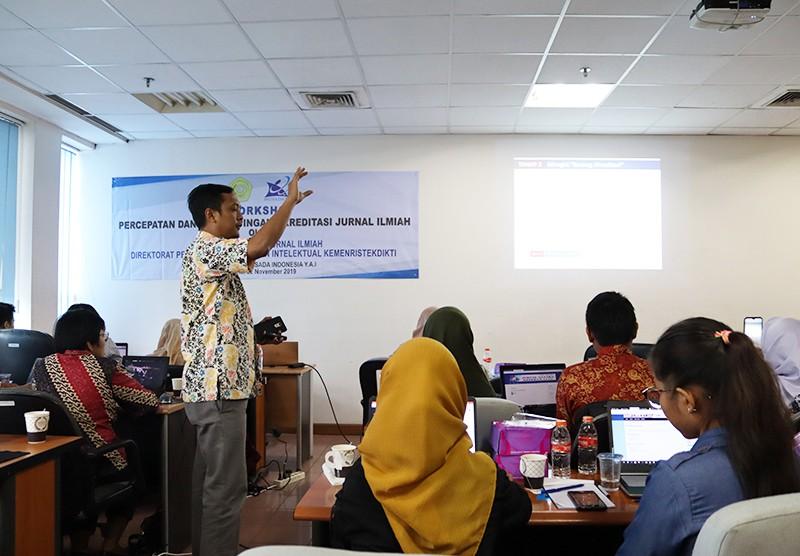 Workshop Percepatan dan Perdampingan Akreditasi Jurnal Ilmiah